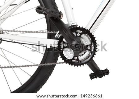 Mountain bike detail - stock photo