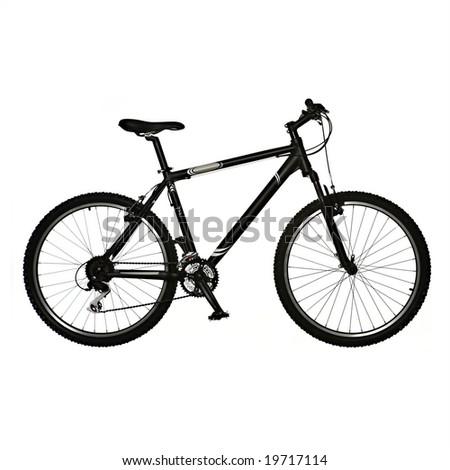 mountain bike isolated on white background - stock photo