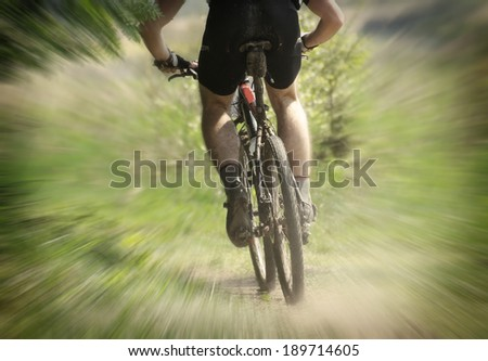 Mountain bike race - stock photo
