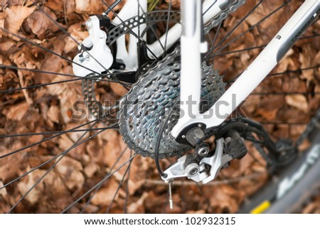 Mountain Bike shifting system - stock photo