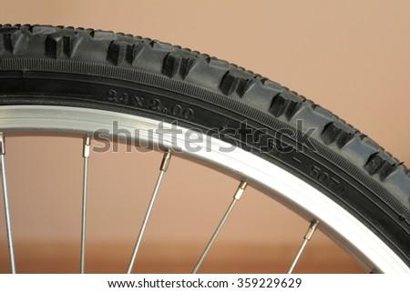 Mountain bike tire - stock photo