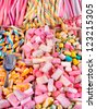 Mountain caramel sweets and Bonbons. Retail. - stock photo