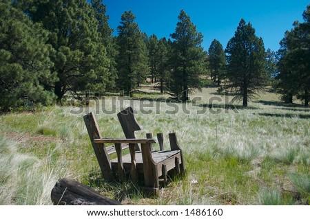 mountain chair - stock photo