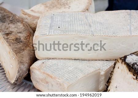 mountain cheeses - stock photo