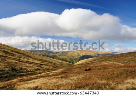 Mountain countryside near Raise Beck in the English Lake District - stock photo