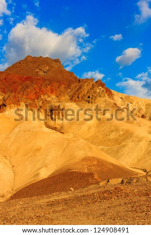 Mountain desert landscape in Death Valley National Park, California