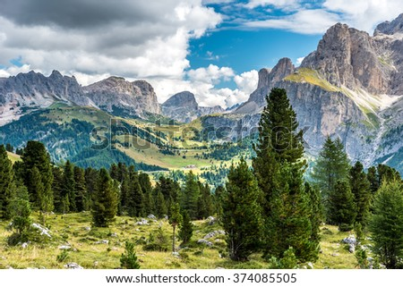 Mountain Dolomites of Italy - Val Gardena