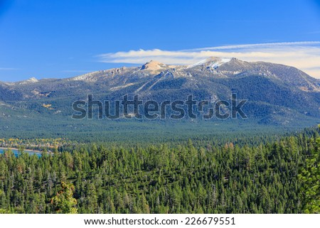 Mountain, forest, Photos Taken in Lake Tahoe Area - stock photo