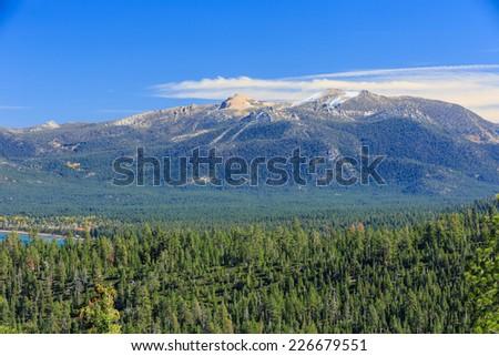 Mountain, forest, Photos Taken in Lake Tahoe Area - stock photo