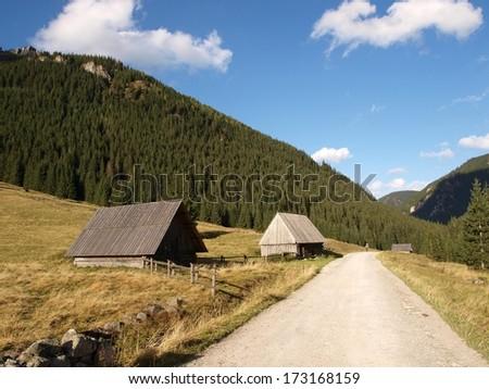 Mountain homes - stock photo