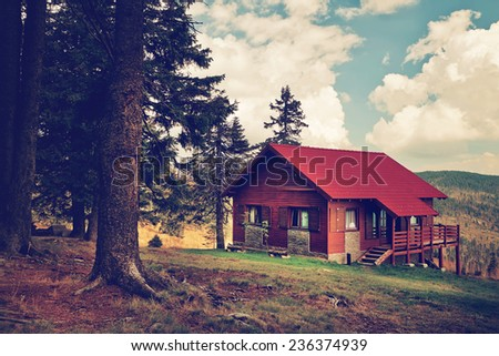 Mountain house - stock photo