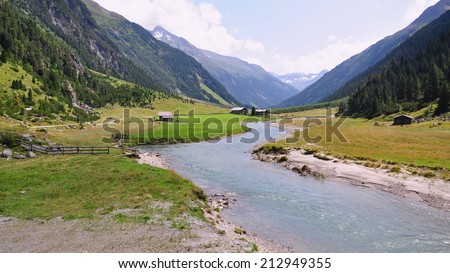 Mountain in Austrian national park Hohe Tauern - stock photo