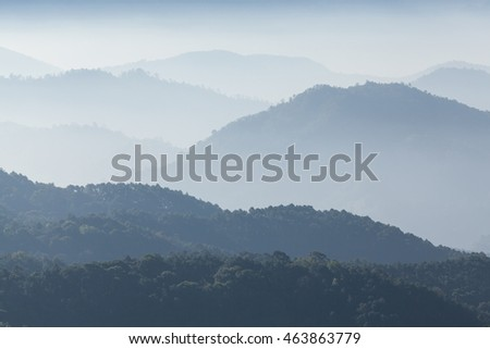 Mountain in chiang man, thailand. background