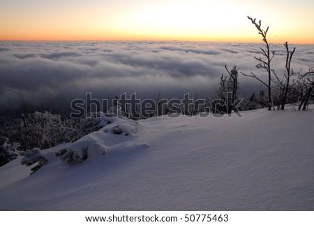 mountain in czech republic - stock photo