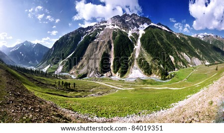Mountain in Ladak near Zozila pass, Jammu and Kashmir, India - stock photo