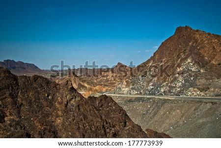 Mountain in Oman - stock photo