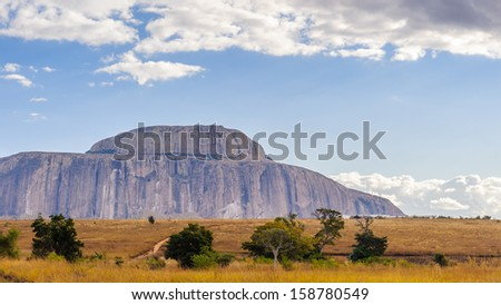 Mountain in rock in Madagascar, Africa - stock photo