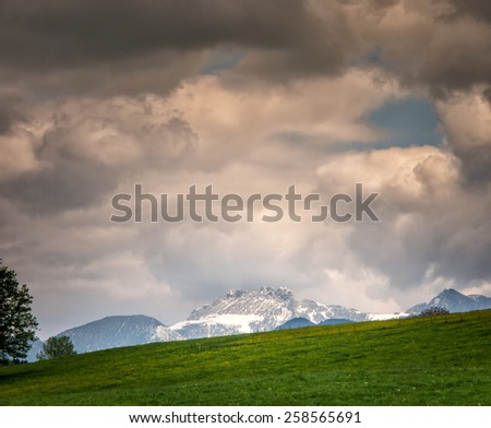 mountain kampenwand region chiemgau, bavaria - stock photo