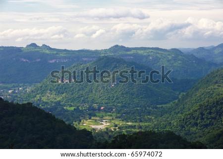 Mountain Khao Yai at view point. - stock photo