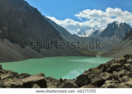 "Mountain Lake ""Ak-Kol"" - stock photo"