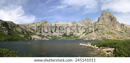 Mountain lake in Corse - France - stock photo