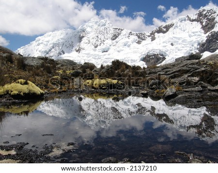 Mountain lake in the Cordilleras mountain