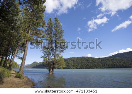 Mountain lake in Washington state