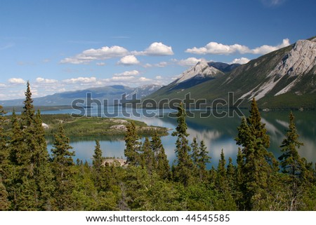 Mountain Lake on the South Klondike Highway