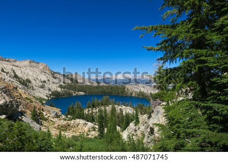 Mountain Lake View from Trail - Yosemite