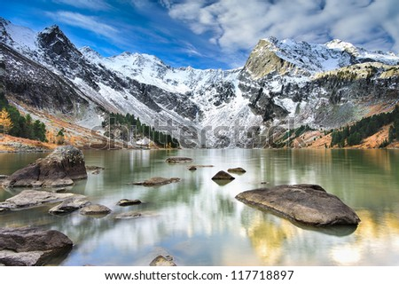 Mountain Lake, West Siberia, Altai mountains.