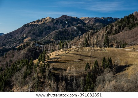 Mountain landscape. - stock photo