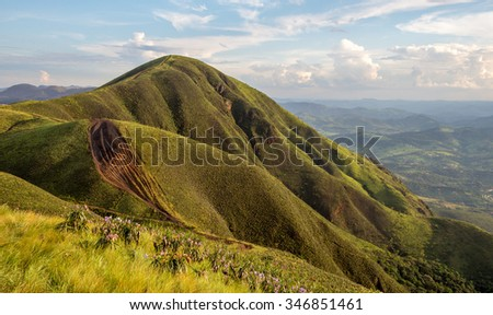 Mountain landscape, Brazil - stock photo