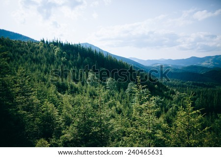 Mountain landscape. Clouds. Travel. - stock photo