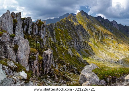 Mountain landscape in a beautiful summer day - stock photo