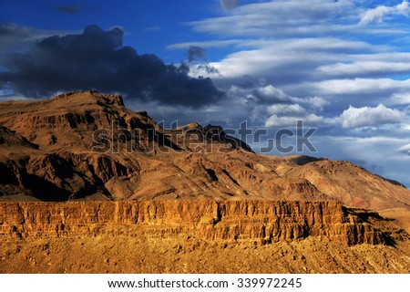 Mountain landscape in Atlas Mountains, Morocco, Africa - stock photo