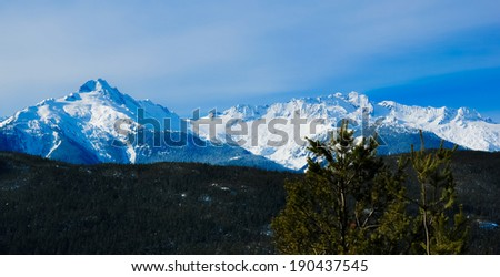 Mountain landscape in Canada - stock photo