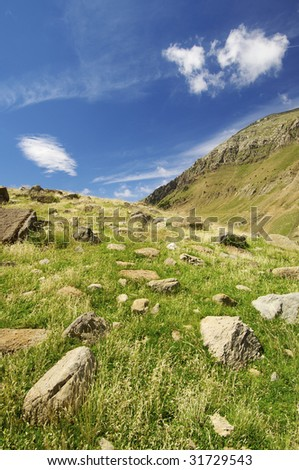 Mountain landscape in Pyrenees