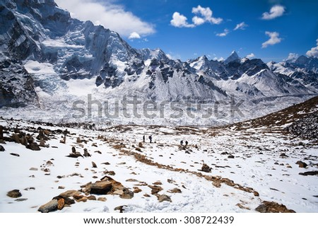 Mountain landscape in Sagarmatha National Park in the Nepal Himalaya
