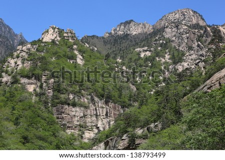 mountain landscape in the clear day