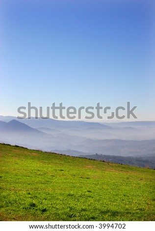 mountain landscape in the north of portugal - stock photo
