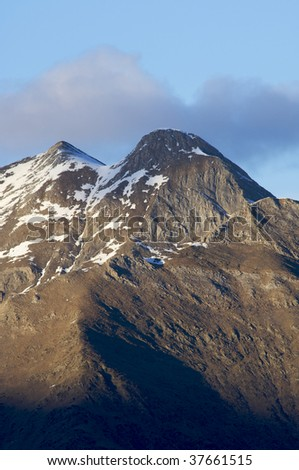 mountain landscape in the Pyrenees - stock photo