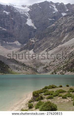 Mountain  landscape, Lake and rocks