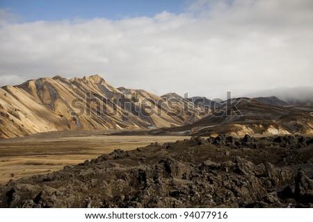 Mountain landscape , Landmannalaugar,Iceland - stock photo