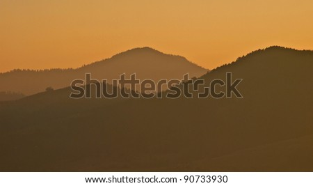 Mountain landscape  / Mountain / Fog on the mountain / Zlatibor, Serbia