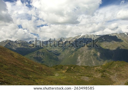 mountain landscape of Altai - stock photo