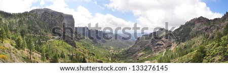 Mountain landscape on Gran Canaria, Canary islands, Spain