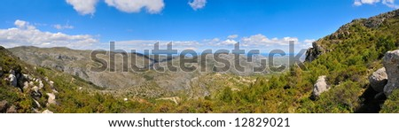 mountain landscape - panoramic view