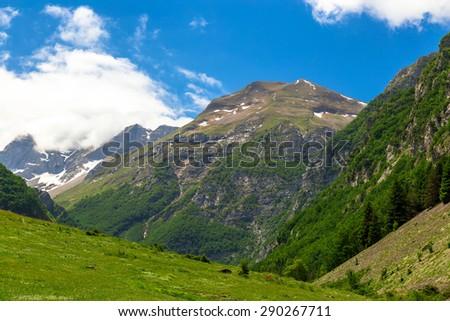mountain landscape - Sibillini Mountains - stock photo