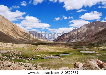 Mountain landscape view, Ladakh, Jammu & Kashmir, India