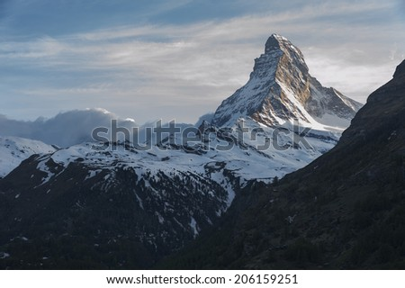 Mountain Matterhorn, Zermatt, Switzerland  - stock photo